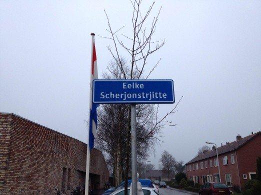 Onthulling straatbord Eelke Scherjonstrjitte